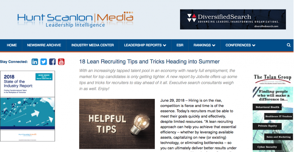 Executive Search Recruiter 18 Lean Recruiting Tips Tricks